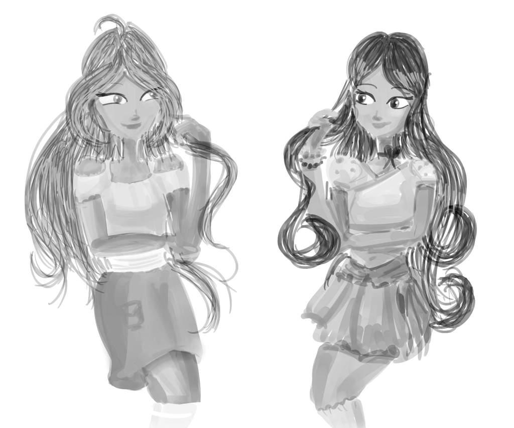 Flora and Me (Briar Rose) Clothes Swap B&W | Winx Club Amino