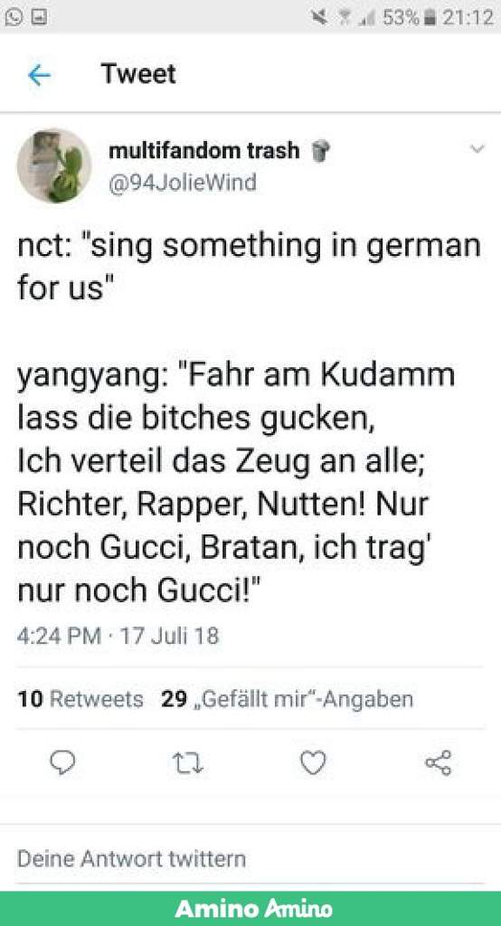 German Nctzen S After Yangyang Nct 엔시티 Amino