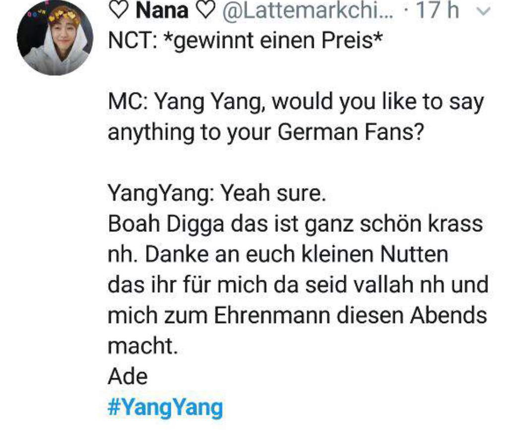 Yangyang Being German Nct 엔시티 Amino