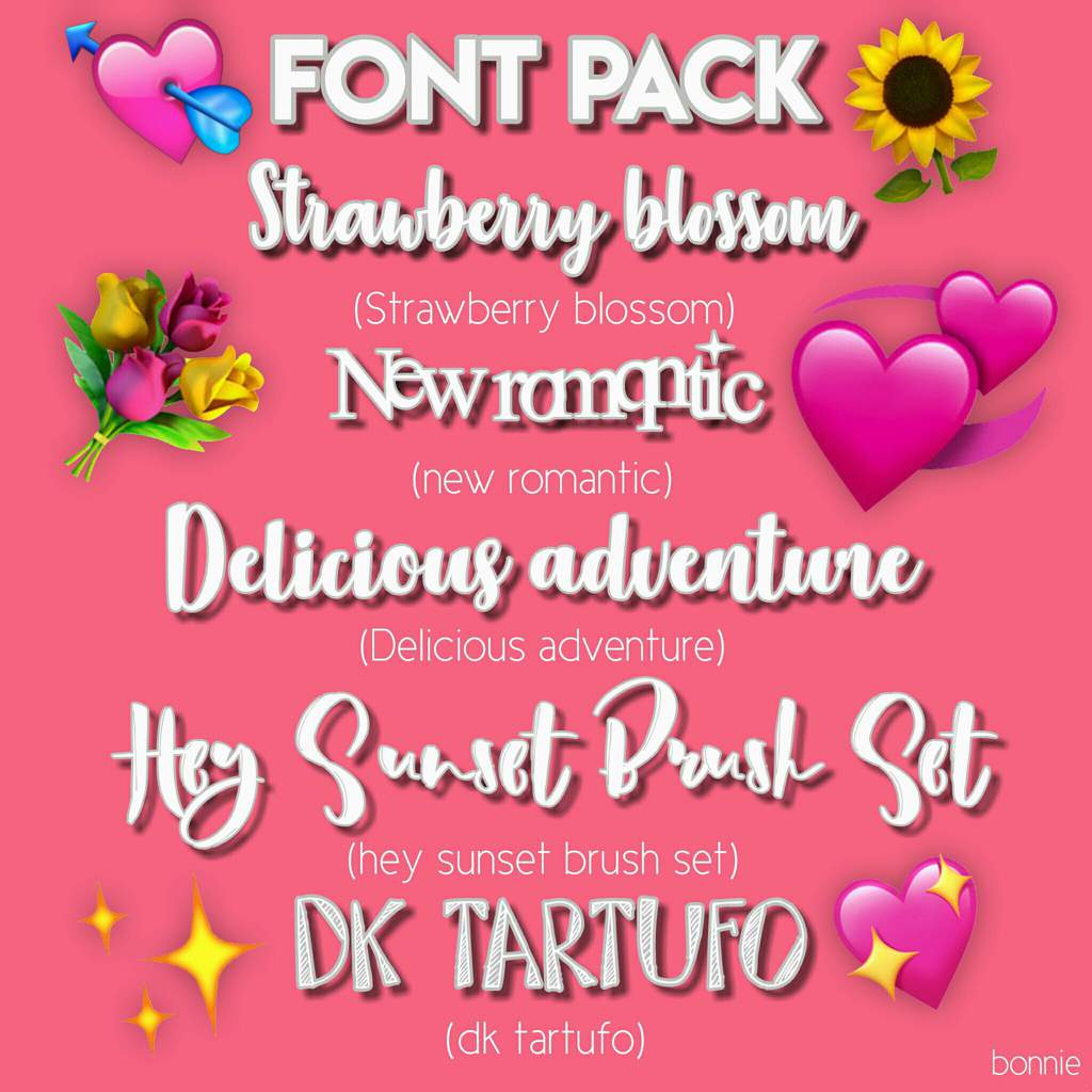 Font pack #1 | Aesthetic Universe Amino