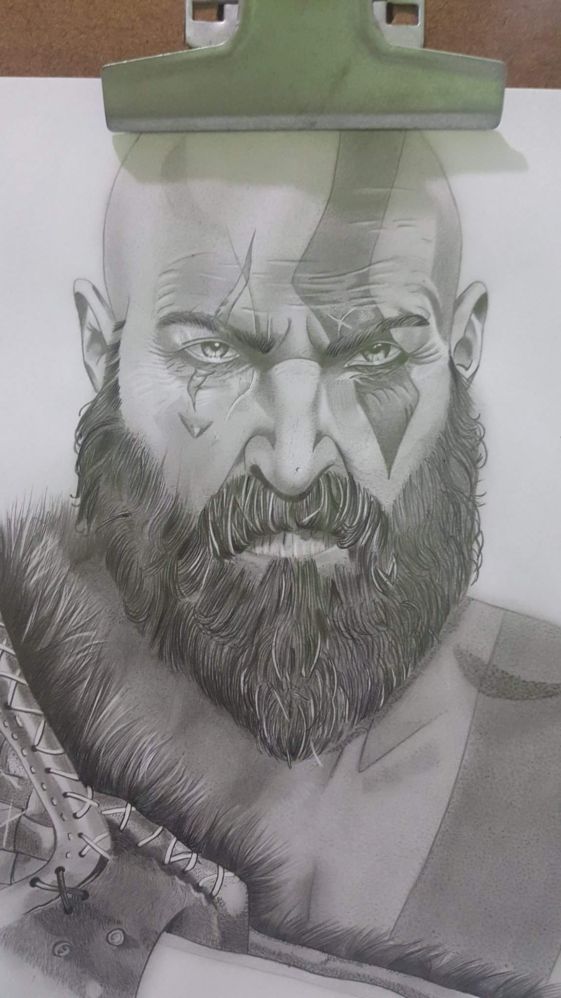 Kratos Lapis Grafite Desenhistas Do Amino Amino