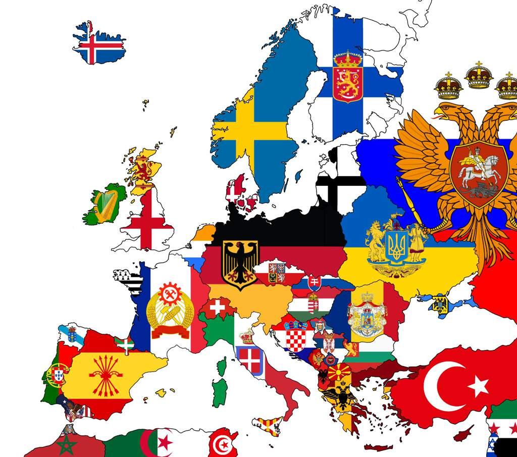 Alternate Europe Mapping Countryballs Amino