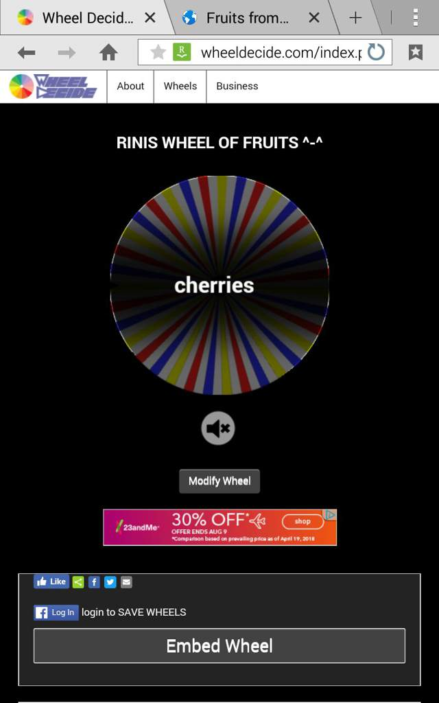 Rinis Wheel Of Fruits (challenge) | Love Nikki Dress Up