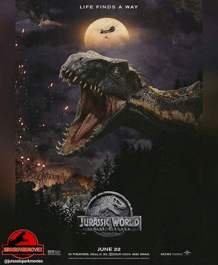 jurassic world fallen kingdom poster  wiki  dinosaur