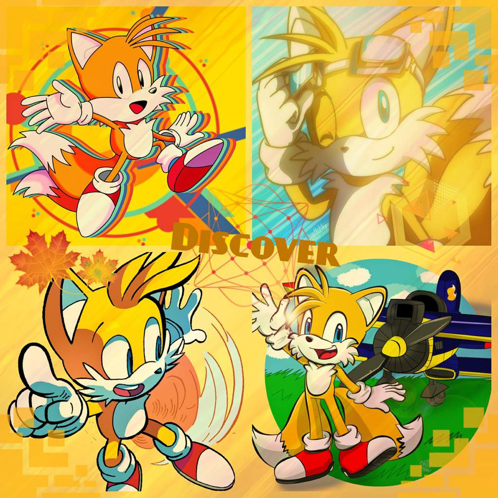 Tails Wallpapercollage Sonic The Hedgehog Amino