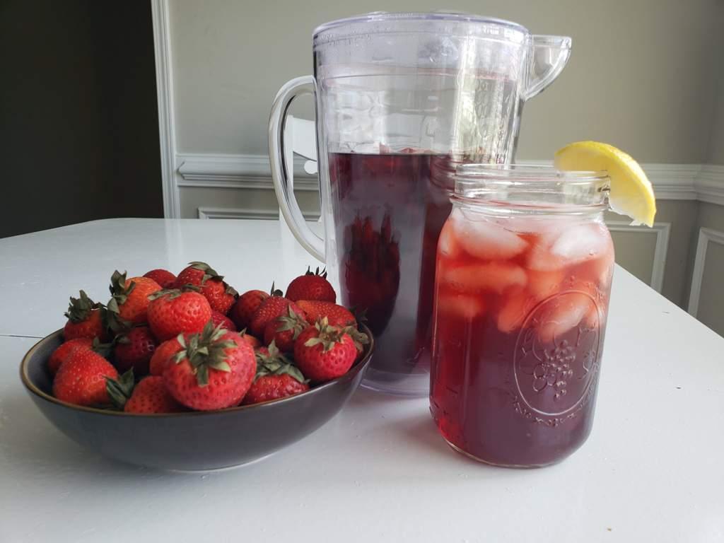 Simple Triple Berry Hibiscus Lemon Iced Tea Vegan Amino