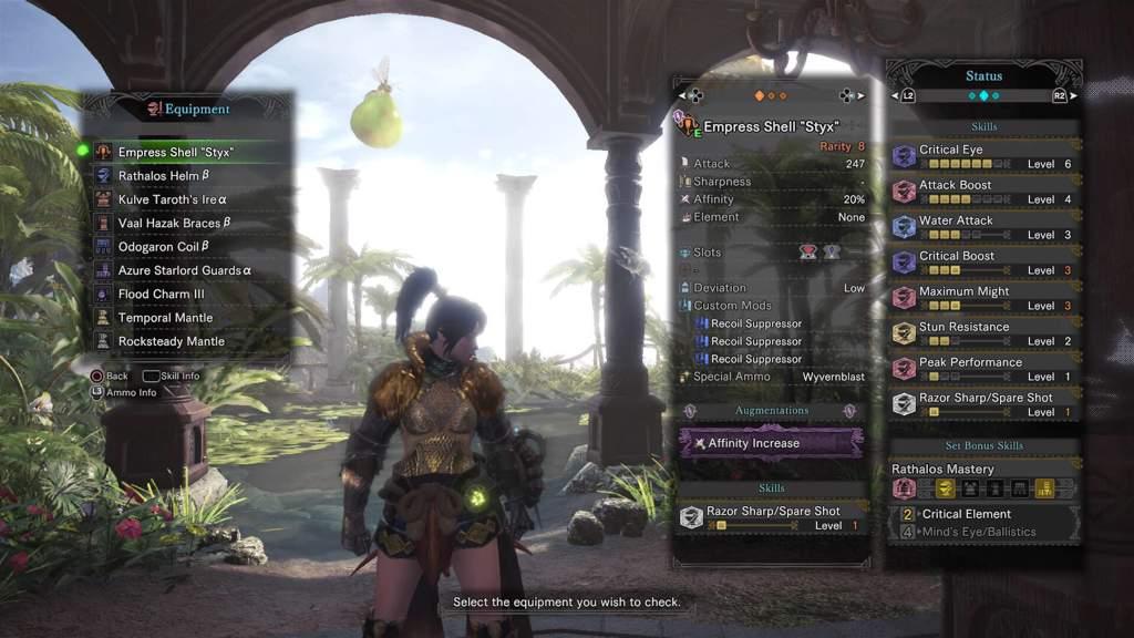 Anti Uragaan/Lavasioth LBG set: 80% Affinity without Weakness