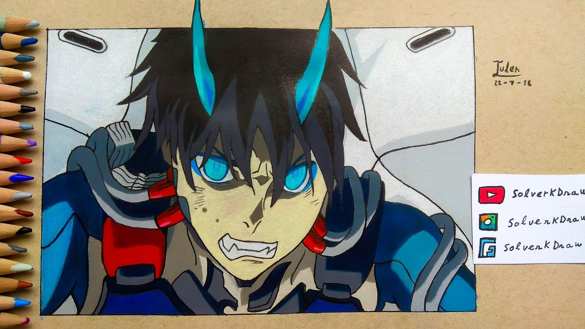 Hiro Drawing With Speedraw Darling In The Franxx