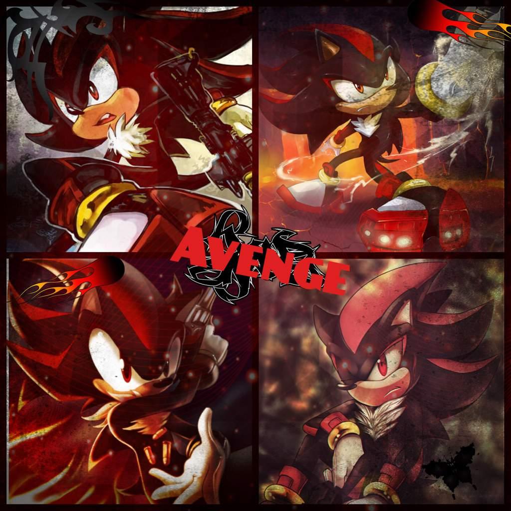 Shadow Wallpapercollage Sonic The Hedgehog Amino