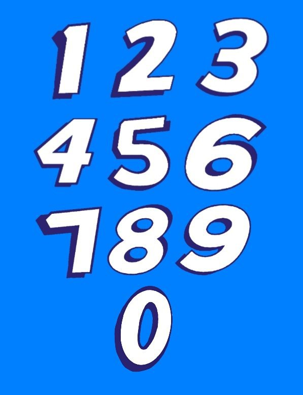 Richard Petty Numbers in Font | NASCAR Amino
