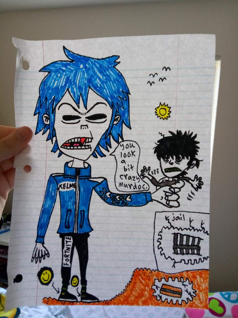 Murdoc got busted out of jail for the first time years back