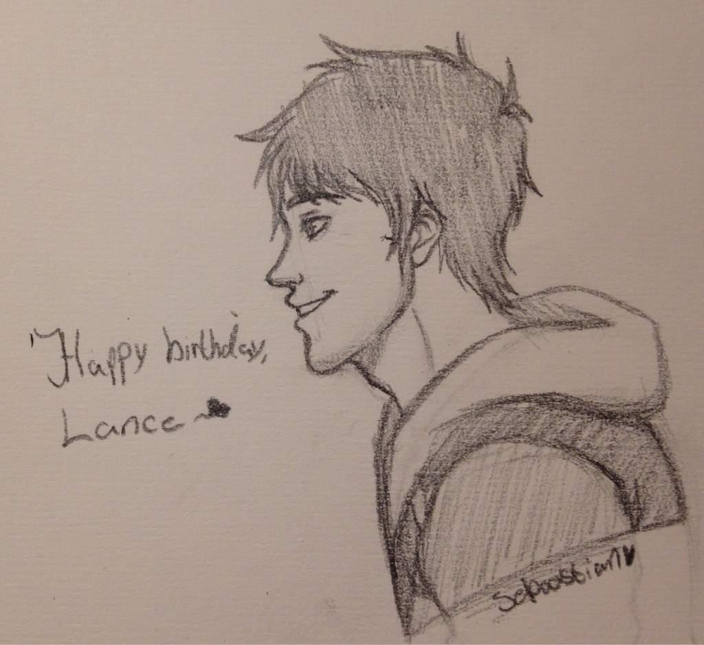 Happy birthday lance pencil sketch voltron amino