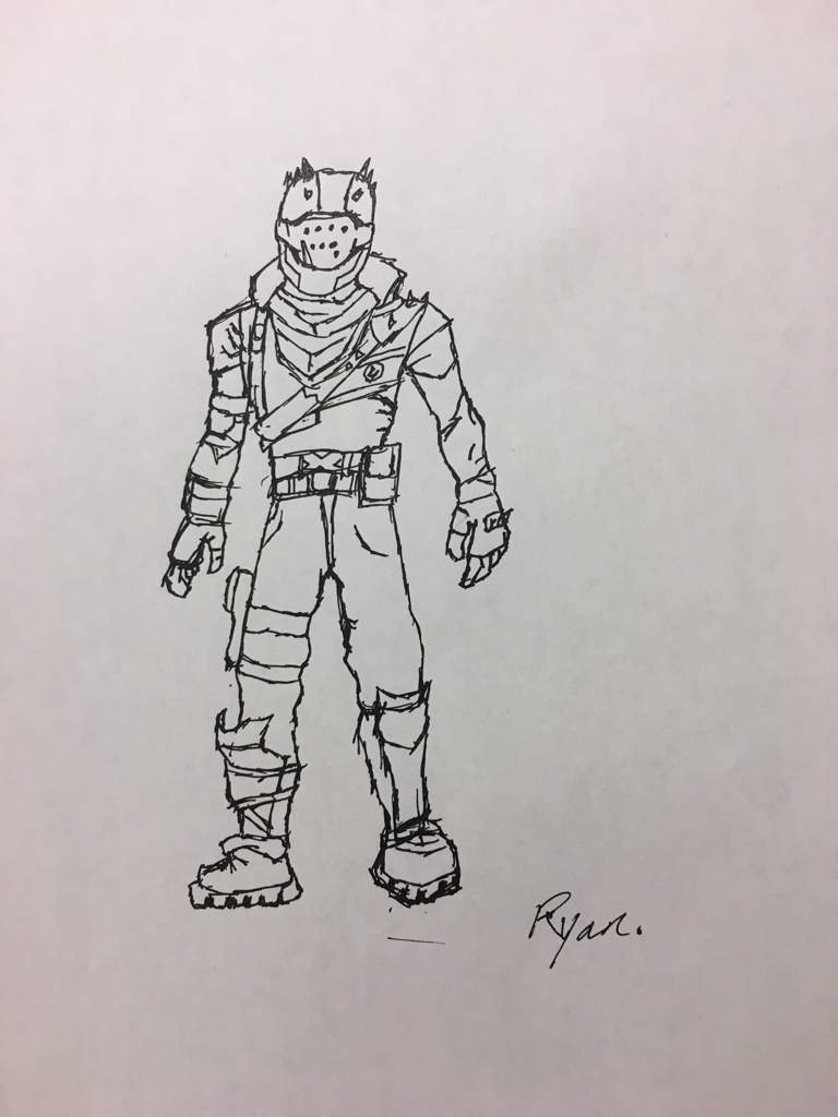 Coloring and Drawing: Fortnite Rust Lord Coloring Pages