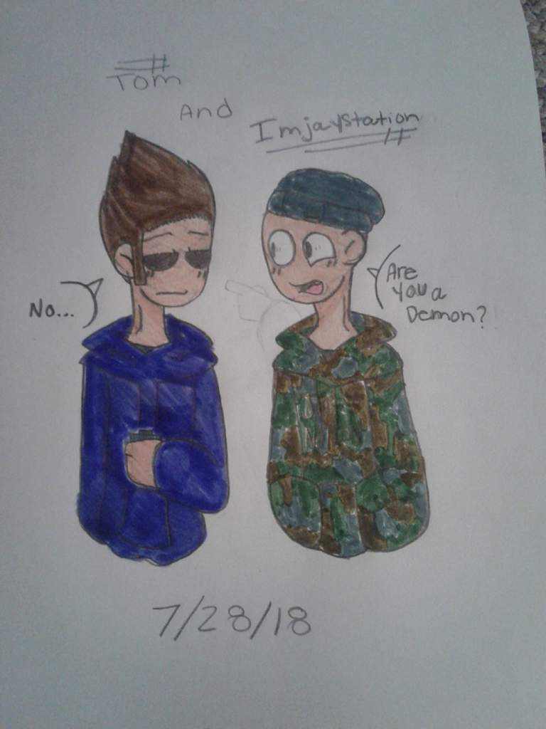 Tom and Imjaystation | 🌎Eddsworld🌎 Amino