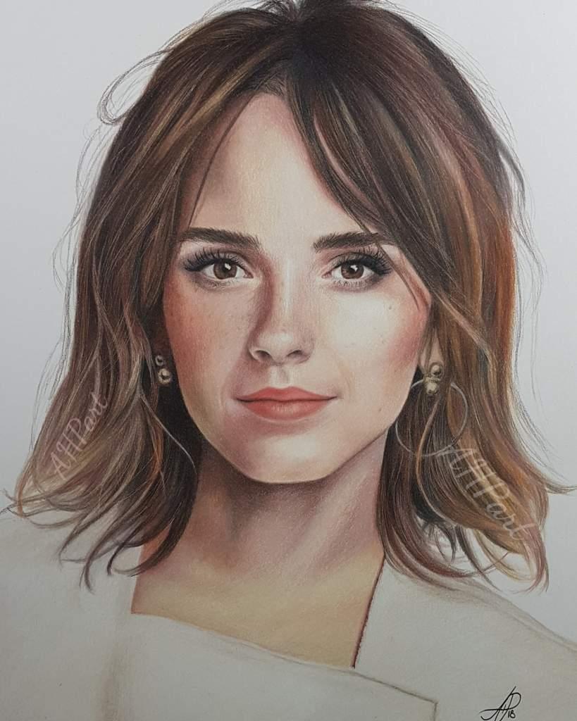 Emma watson colored pencils art amino