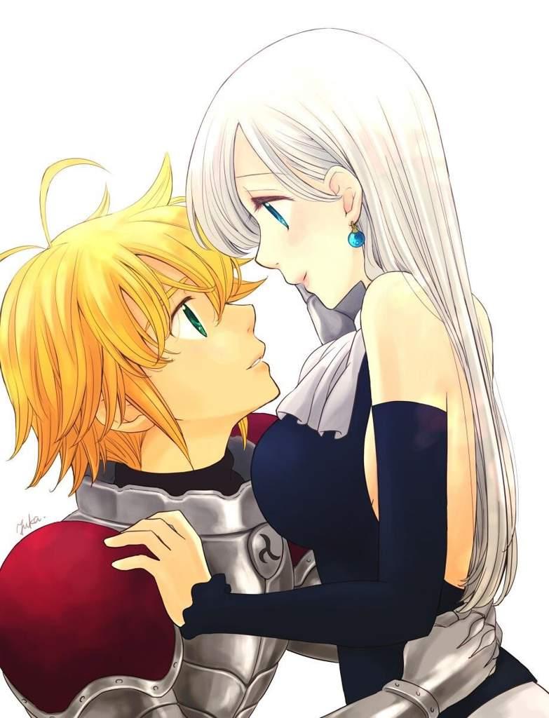 Dibujo de Elizabeth y Meliodas   •Anime• Amino