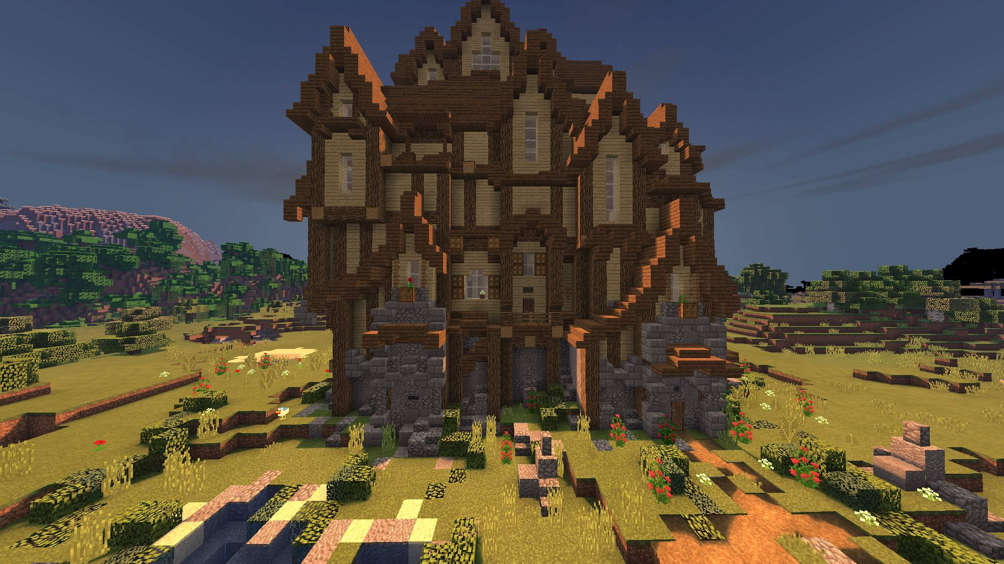 Rustic Medieval Mansion ⁓ Exterior  Minecraft Amino