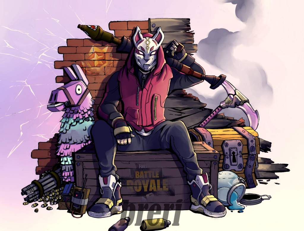Cool Drawing Of Drift Fortnite Battle Royale Armory Amino