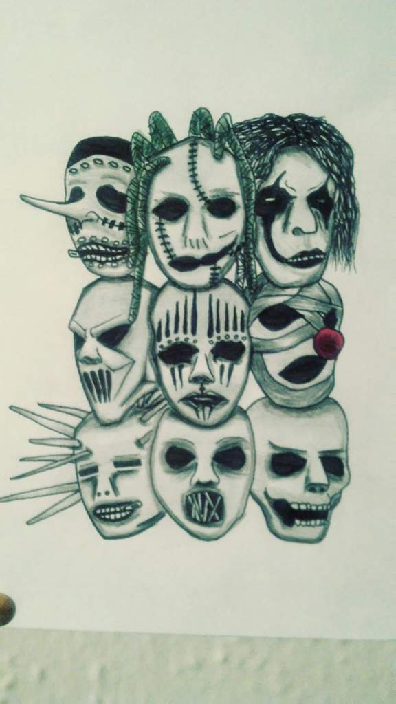 Dibujo Mascaras Slipknot Arte Amino Amino