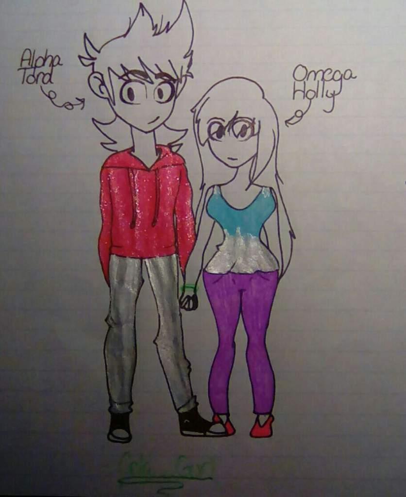 Alpha Tord and my oc Omega Holly | 🌎Eddsworld🌎 Amino