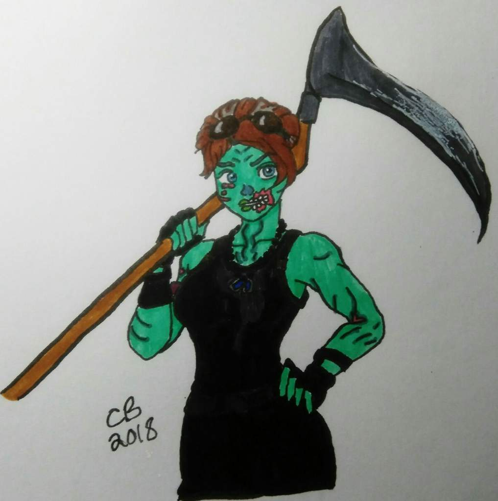 Fortnite ghoul trooper drawing
