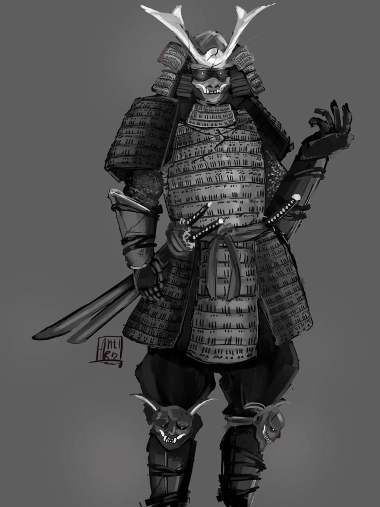 Samurai Oni Character Design Winshard Comics Amino