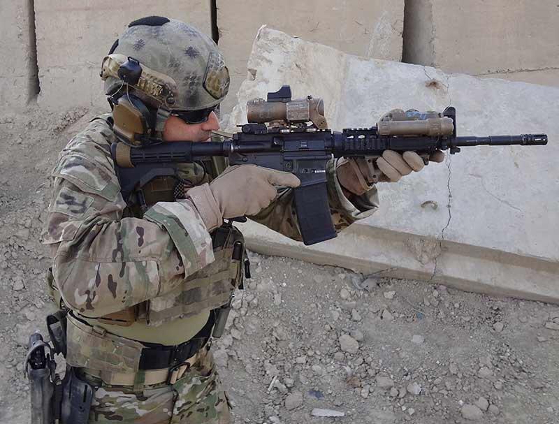 An American modern assault rifle, M4 Carbine (M16A1, M4