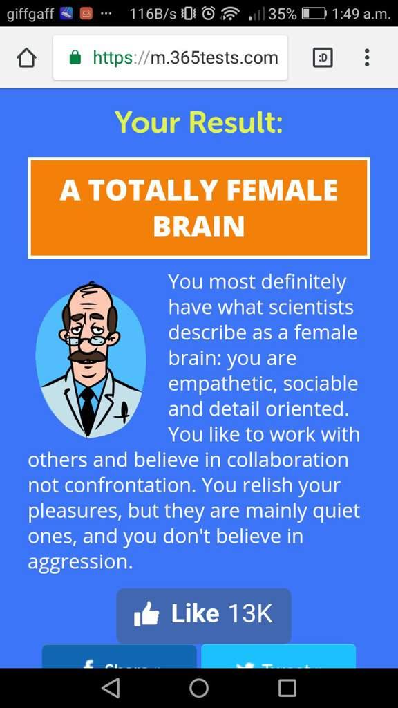 Gender brain type | LGBT+ Amino