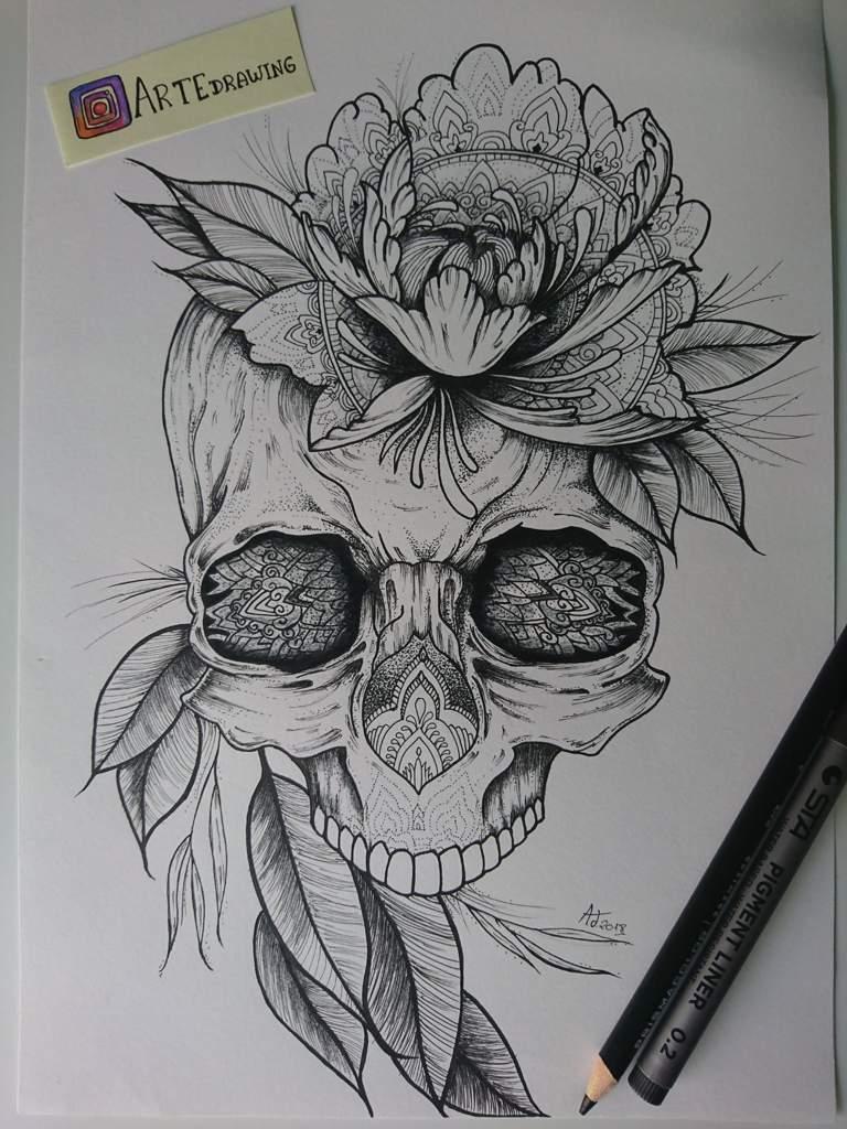 Dibujos Calaveras Con Flores Wwwtollebildcom