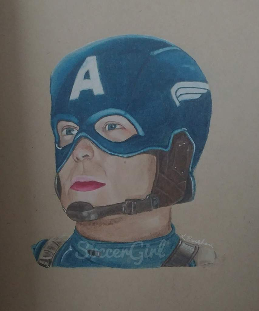 Captain america colored pencil drawing marvel amino