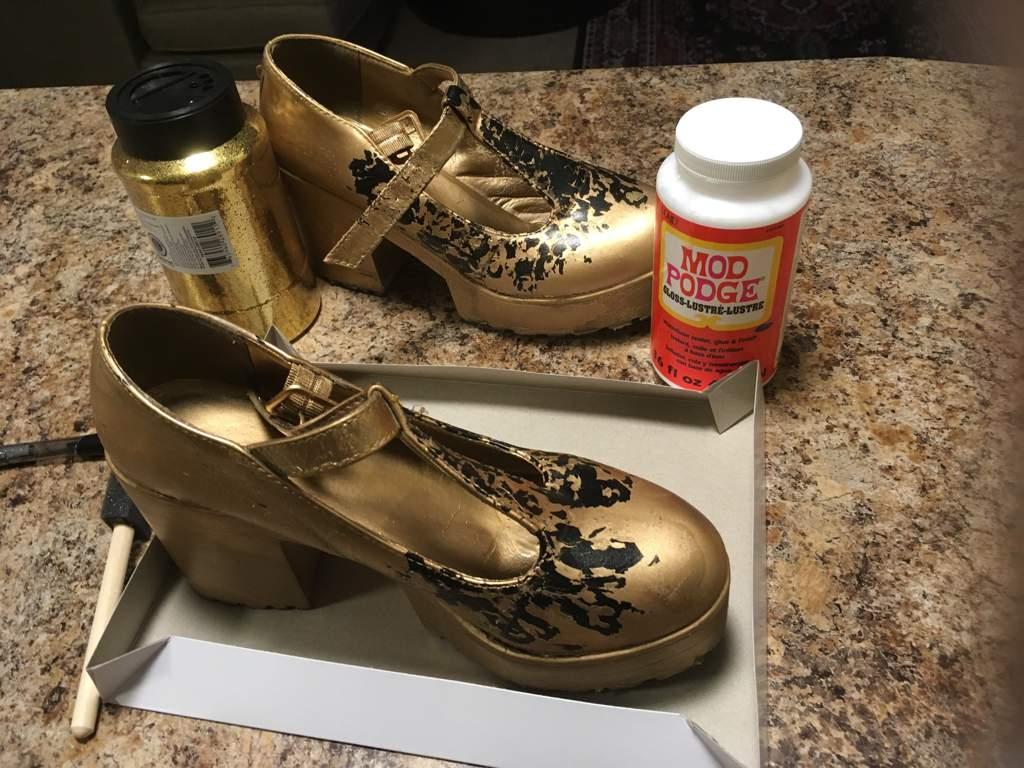 Diy Glitter Shoes Cosplay Amino