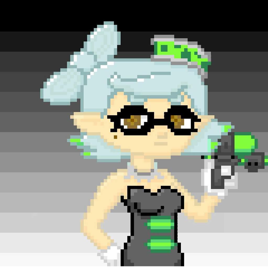Pixel Art Splatoon 2 Calamar