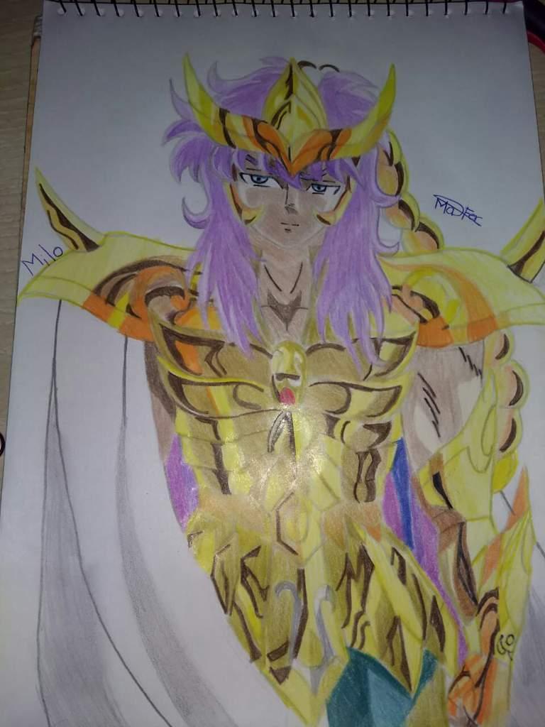Dibujo De Un Escorpion Dorado milo el caballero dorado de escorpión | •arte amino• amino