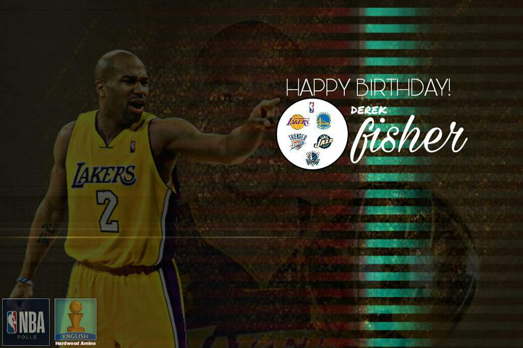 2476f38e0e0 Former NBA Player Derek Fisher is celebrating his 44th birthday today. Born  on this day in 1974