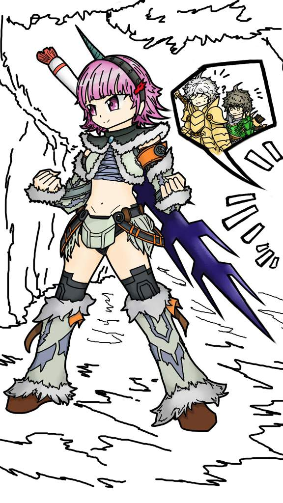 Danganronpa 2 X Monster hunter world (Chiaki, Hajime, and