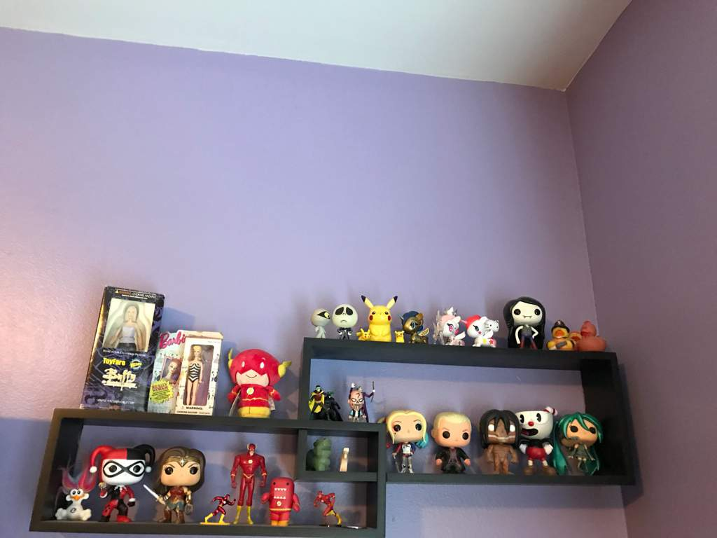 Funko Collection Amino Bott Pop Cuphead The Devil Here I Have My Marceline Hatsune Miku Titan Form Eren Spike Suicide Squad Harley Quinn Wonder Woman And Some Blond Boxes On
