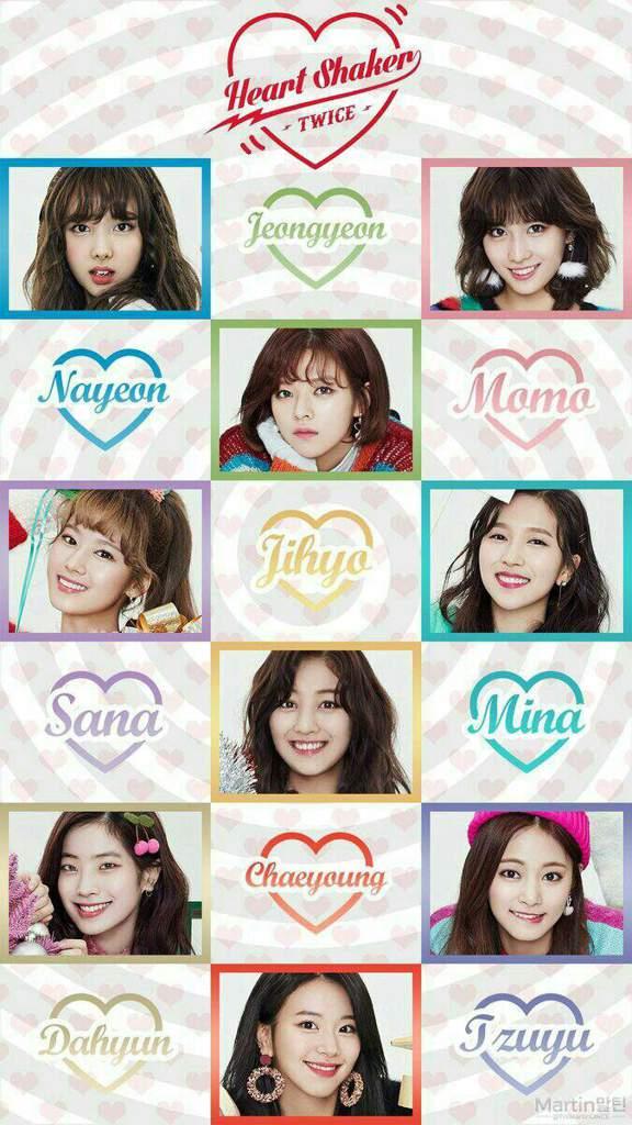 Look This Wallpaper Of Twice Heart Shaker Twice 트와이스