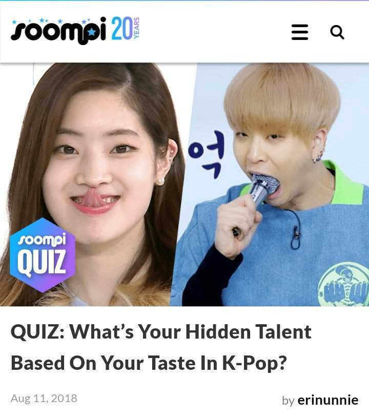 QUIZ] SOOMPI: What's Your Hidden Talent Based On Your Taste In Kpop
