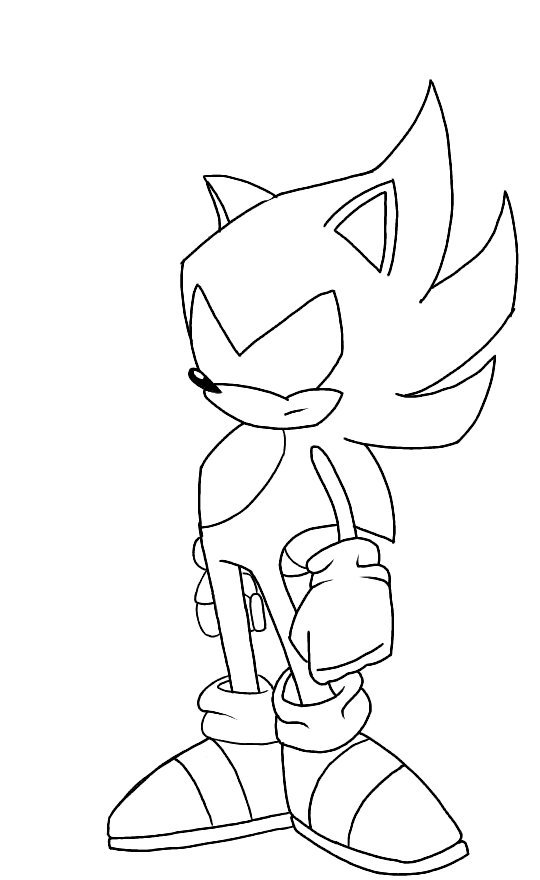 A New Dark Sonic Sketch Sonic The Hedgehog Amino