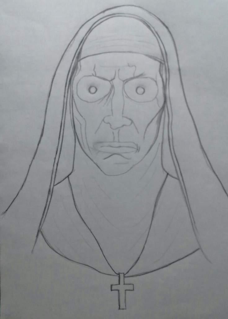 Mi Dibujo De La Monja Terror Amino