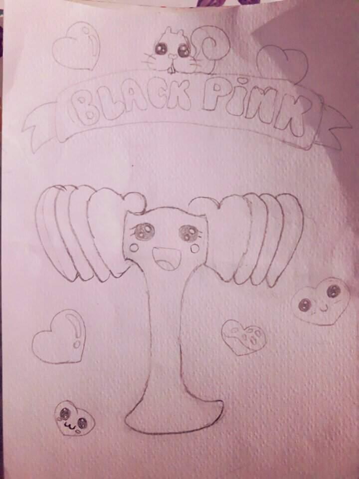 Dibujo De El Lighstick De Blackpink Version Kawaii