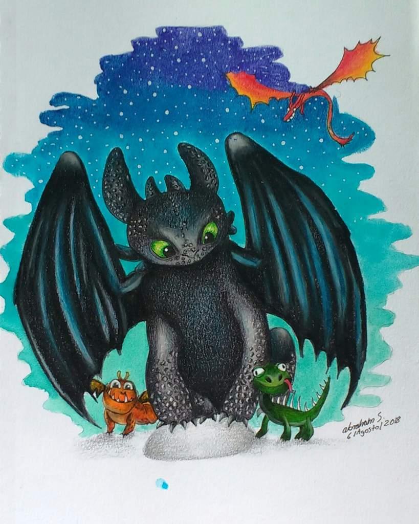Furia Nocturna Chimuelo Dibujameuntuescoges Arte