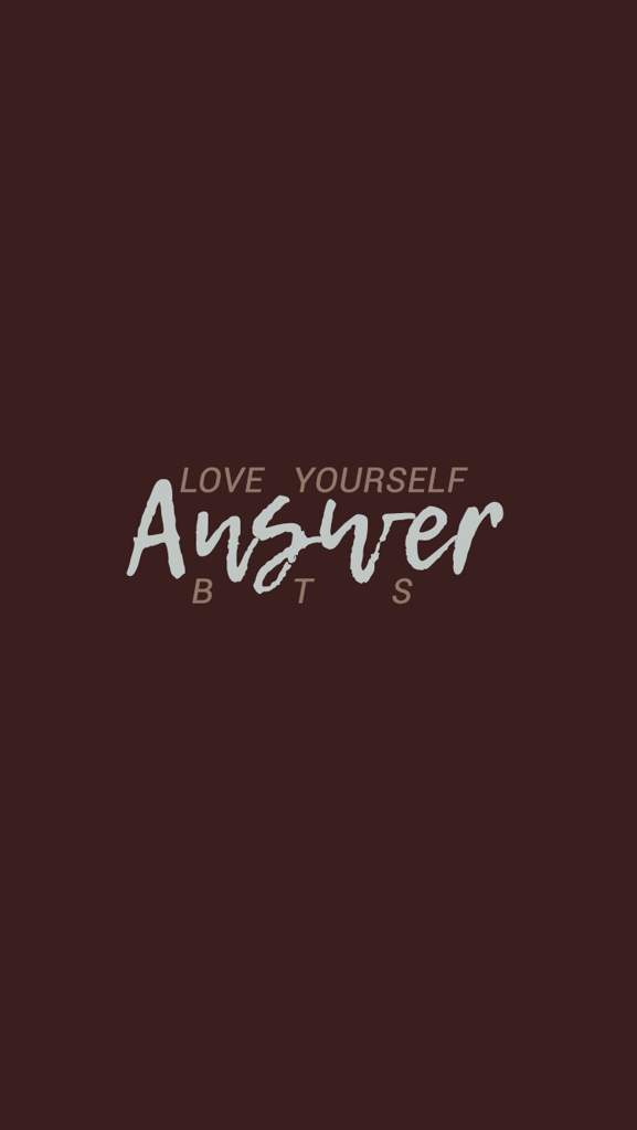 bts love yourself answer wallpaper