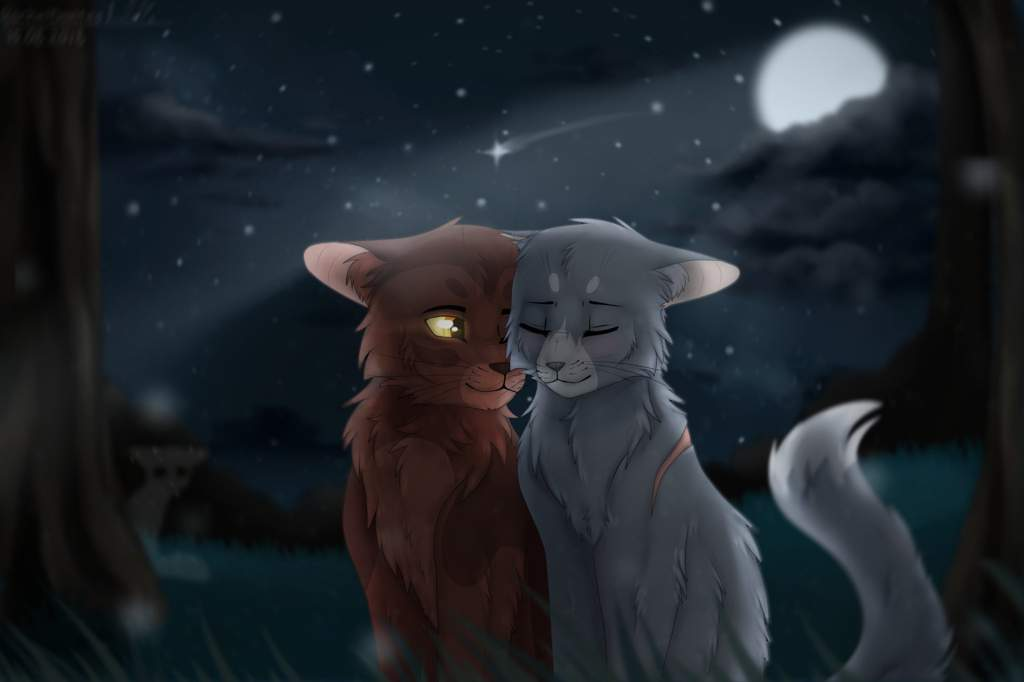 Картинки котов воителей синяя звезда и желудь