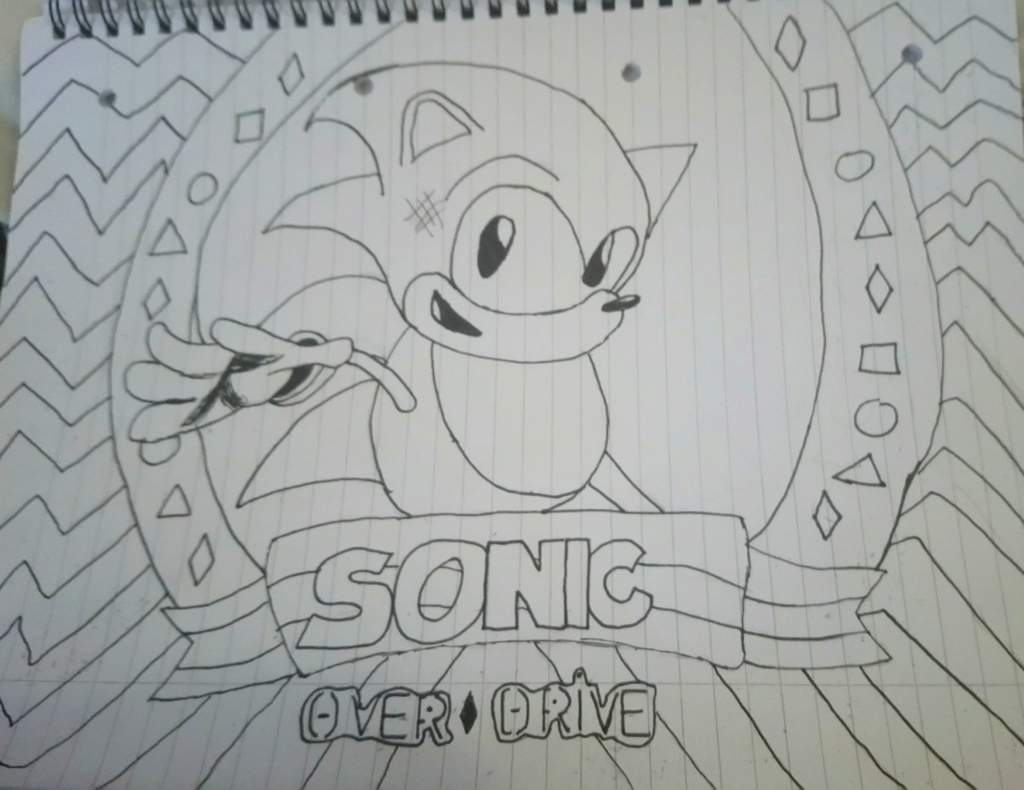 My Sonic Title Screen Art Non Coloured Sonic The Hedgehog Amino