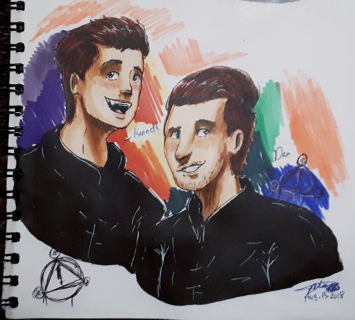 wanted to draw the other tour members of panic at the disco myart art panicatthedisco copicmarkers danpawlovich kennethaharris update it s on the