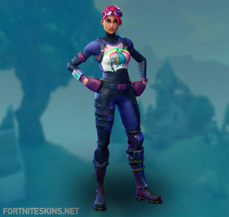nice outfit i like the unicorn theme and the hair color as much as it is bright and contrasted it fits i like her shirt very much and my only problem - best female fortnite skins