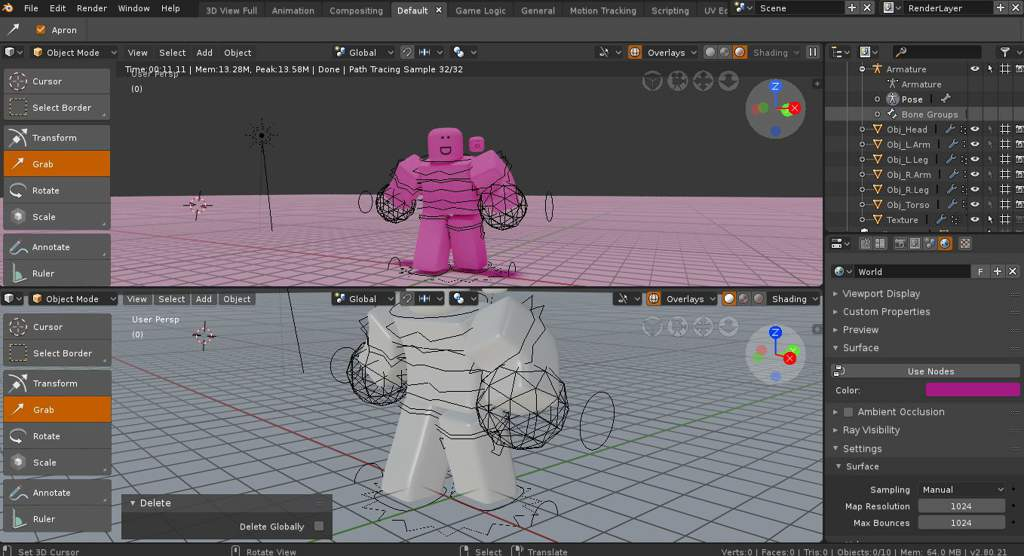 How To Animate Roblox Characters In Blender 2.8 Blender 2 8 Gfx Roblox Amino