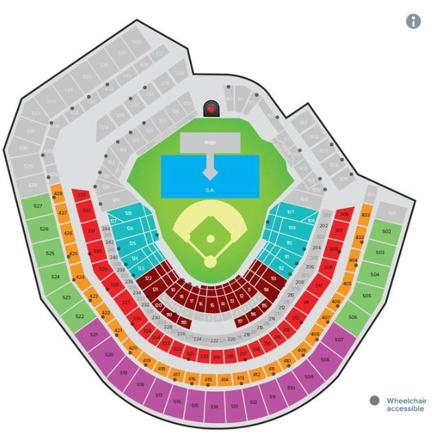 Citi Field Also Revealed The Seating Map For Concert Which You Can Check Out Below