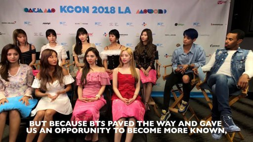 TWICE thank BTS for paving the way in the United States with